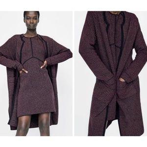 NEW Zara long metallic thread cardigan